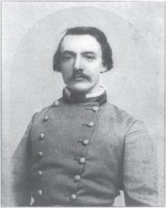 """Confederate Brigadier General Adam R. Johnson, 1863."" Source: William J. Davis, ed., The Partisan Rangers of the Confederate States Army: Memoirs of General Adam R. Johnson (Louisville, 1904), frontispiece."