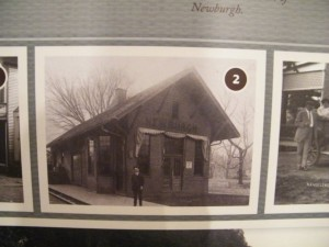 An exterior picture of the E&OV depot is part of a permanent display at the Newburgh Museum. The depot operated from 1908 to 1938. It is not clear when the wooden building was torn down.