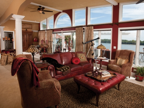 Breathtaking views of the Ohio River from the second floor.